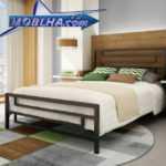 فروش تخت خواب دو نفره | تخت خواب فلزی مدل 105 | تخت دو نفره مدل 105
