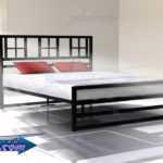 تخت خواب طرح دار دو نفره | تختخواب با طرح پنجره | تختخواب طرح دار سفید | تختخواب کد 120