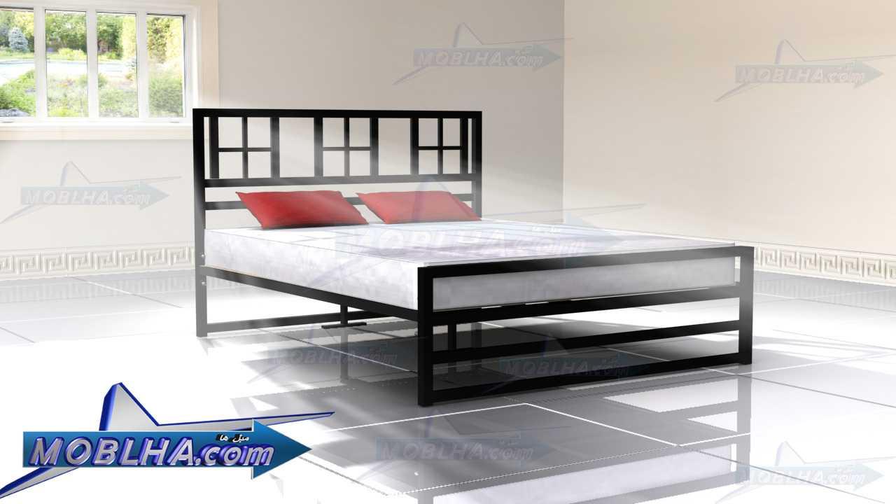 تخت خواب دو نفره پنجره دار مدل 120