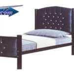 تخت خواب یک نفره با تاج پارچه کوبی | تخت خواب یک نفره با تاج پارچه کوب کد 116