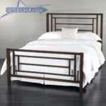 تخت خواب فلزی جدید | تختخواب دو نفره مدرن کد 112