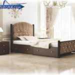 خرید تخت خواب یک نفره مدل 146 ،تخت خواب فلزی تک نفره کد 146