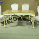 فروش میز ناهار خوری تاج دار – 6 نفره با میز منبت کاری  مدل 313