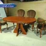 میز ناهار خوری با طرحی اصیل و تاریخی با چوب قهوه ای مدل 315M