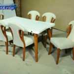 خرید سرویس میز نهار خوری فانتزی -سرویس ناهار خوری چوبی مدل 319m