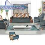 کاناپه راحتی ست کامل مدل ریما با ساختاری مدرن