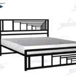 تخت خواب مدرن دو نفره با طرح هنری پرسپکتیو کد 117
