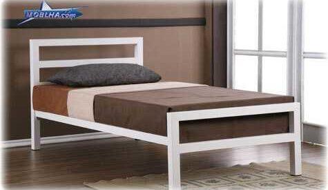 خرید تخت خواب یک نفره سفید ساده مدل 113