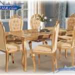 میز ناهار خوری سلطنتی طلایی مدل 323 | خرید سرویس ناهار خوری سلطنتی به رنگ دلخواه