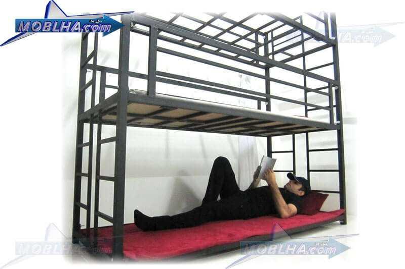 طبقه هم کف تخت خواب سه طبقه مدل 130 تایتان