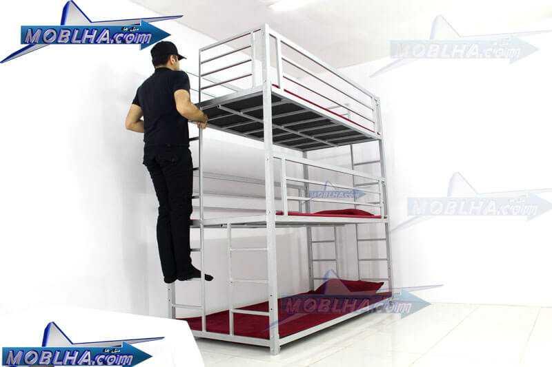 تخت خواب سه طبقه ارزان و با کیفیت مدل 130