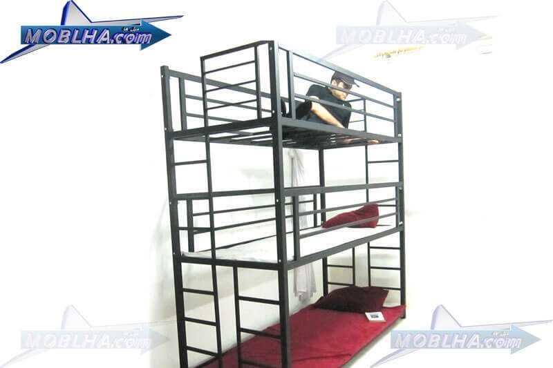 تخت خواب سه طبقه کد 130 بلک