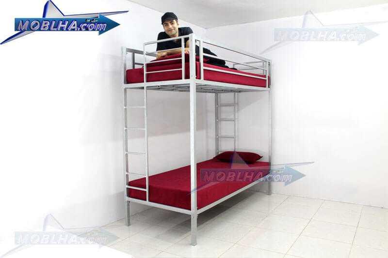 تخت خواب فلزی دو طبقه ایمن کد 102