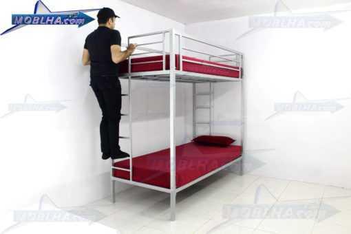 تخت خوابی با دو نردبان و حفاظ ایمنی مدل 102