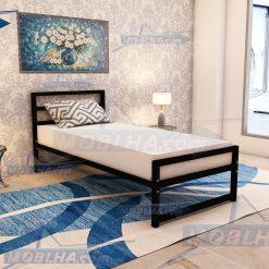 تخت خواب یک نفره فلزی سایز 90 کد 114
