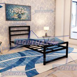 قطعات تخت خواب یک نفره مشکی رنگ کد 114