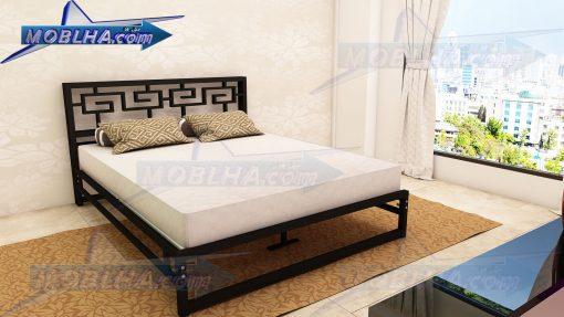 تخت خواب فلزی دو نفره مدل یونانی کد 115