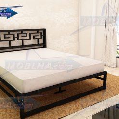 خرید تختخواب فلزی دو نفره مدل یونانی کد 115
