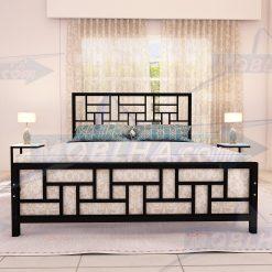 تصویر از نمای روبرو از تختخواب کد 150 به رنگ مشکی