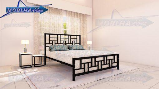 تخت خواب دو نفره مشکی رنگ کد 150