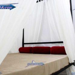 تاج و نمای داخلی تخت خواب پرده خور کد 111