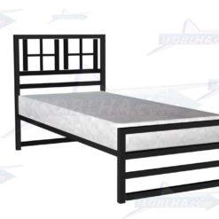 خرید تخت خواب فلزی پنجره دار یک نفره