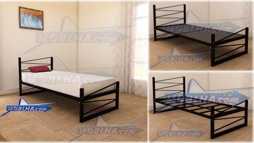 تخت خواب کد 107 با زیر سازی مستحکم چوب و فلز با ساختار یکپارچه ( تهیه تشک بر عهده مشتری )