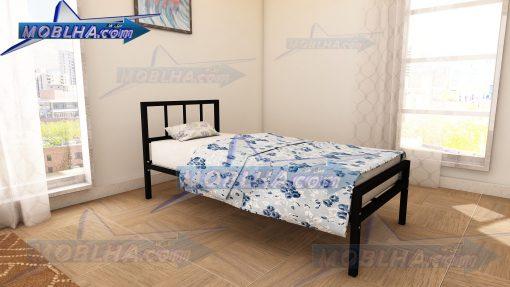 تخت خواب ساده و شیک فلزی از نوع یک نفره مدل 138