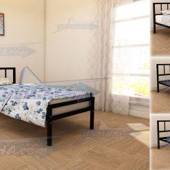 تخت خواب کد 138 یک نفره دارای هفت قطعه به همراه کفی فلزی و دو عدد کفی چوبی نئوپان نقاشی شده به رنگ مشکی مات ارسال میگردد