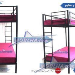 تخت خواب فلزی دو طبقه کد 102