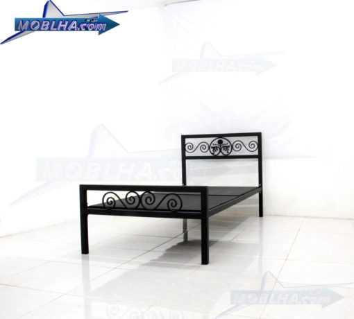 قطعات و نمای زیر تخت خواب فرفورژه مدل 144 یک نفره