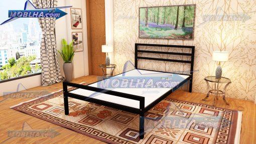 تخت خواب مشکی رنگ کد 120 در سایز 120 *200