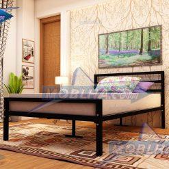 تخت خواب ساده و شیک یک و نیم نفره به رنگ مشکی کد 113