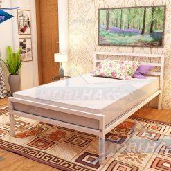 تخت خواب سفید رنگ یک و نیم نفره مدل 113