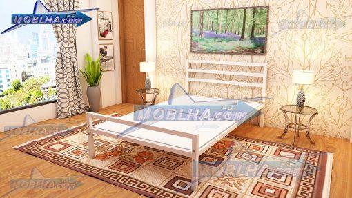 تخت خواب فلزی سفید رنگ سایز 120 کد 113
