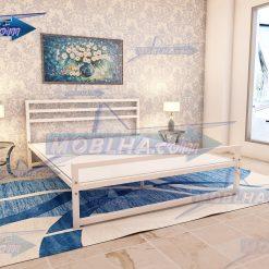 تخت خواب ساده و سفید کد 114