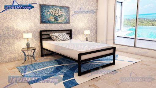 تخت خواب مشکی سایز 120 کد 114