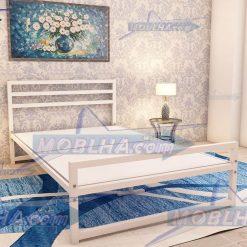 تخت خواب سفید رنگ عرض 120 کد 114