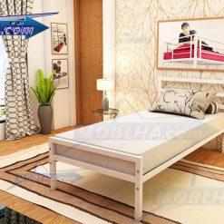 خرید تخت خواب سفید ساده مدل 113