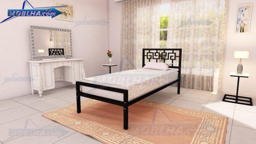 تخت خواب با طرح مصری و یونانی از نوع یک نفره
