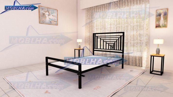 تصویر از تخت خواب سایز 120 با نمای زیبای