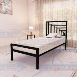 خرید تخت خواب یک نفره شیک فلزی