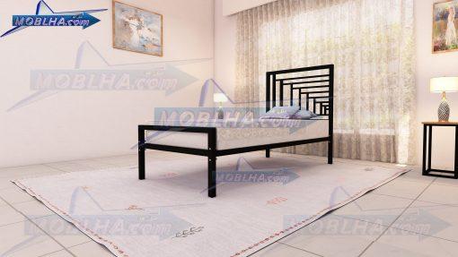 تخت خواب یک نفره به رنگ مشکی مات از نوع 161
