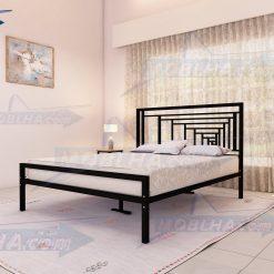 خرید تخت خواب دو نفره شیک فلزی کد 161