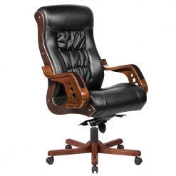 صندلی گردان چرخ دار کد m1313