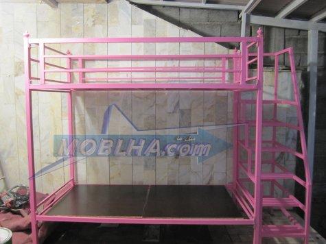 تخت خواب مدل 128 - دو طبقه با پلکان اختصاصی