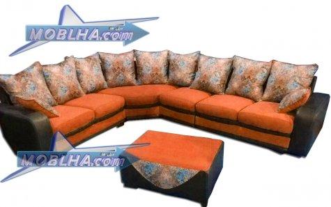 رنگ نارنجی مدل ال درسا - پارچه کد 30
