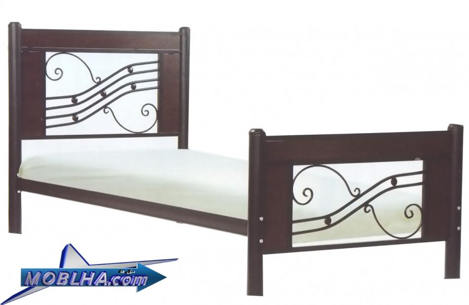 تختخواب فلزی تک نفره طرحدار مدرن کد 101