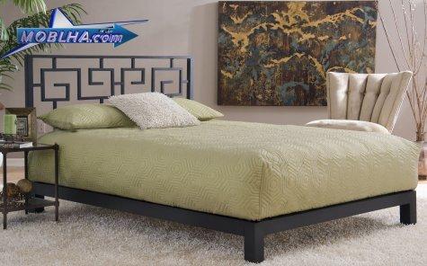 تختخواب فلزی مدل 110 دو نفره بدون تاج جلو