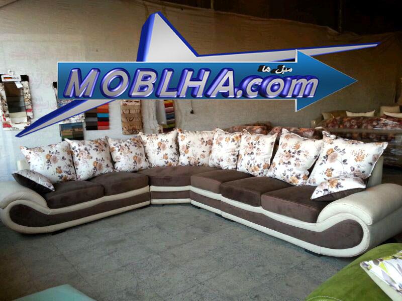 مبل ال کاترین با ترکیب رنگ نسکافه ای